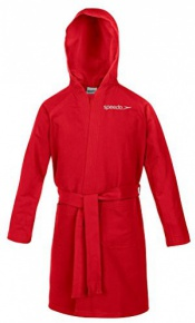 Speedo Bathrobe Microfiber Red