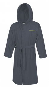 Speedo Bathrobe Microterry Grey