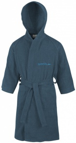 Speedo Bathrobe Microterry Junior Navy