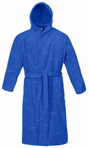 Speedo Bathrobe Basic Jacquard Blue
