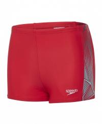 Speedo Star Kick Logo Panel Aquashort Junior Red/Spearmint