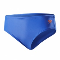Speedo Essential Boys Logo Brief Amparo Blue/Fluo Orange