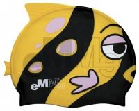 Детска шапчица за плувци Eммe Черно-Жълто риба
