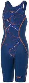 Speedo LZR Racer X Openback KneeSkin Girl Fast Blue/Fluo Orange