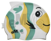 Детска шапчица за плуване Eммe Зелено-Жълто риба