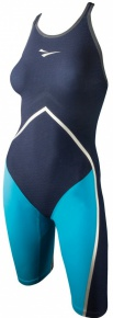 Finis Rival Open Back Kneeskin Navy/Aqua