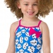Speedo Bow Suit Girl Electric Pink/Brilliant Blue/White