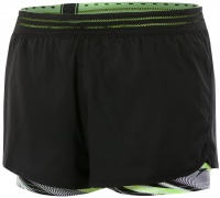 Speedo Reflect Wave Boardshort Black/Bright Zest/White
