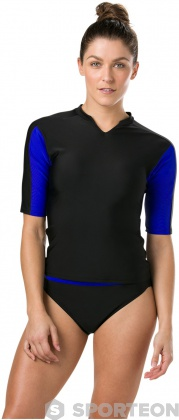 Speedo Hydractive Rash Top Black/Chroma Blue/Bright Zest