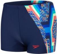 Speedo Digital Panel Aquashort Boy Navy/Fed Red/Brilliant Blue