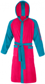 Speedo Bathrobe Microterry Bicolor Rasperry Fill/Blue