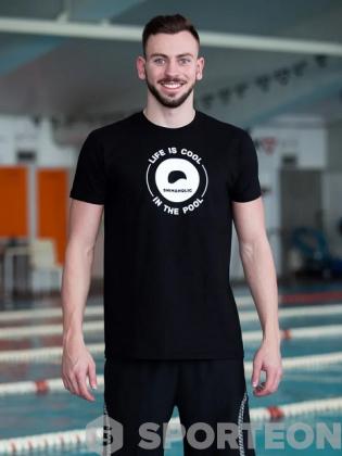 Swimaholic Logo T-Shirt Men Black