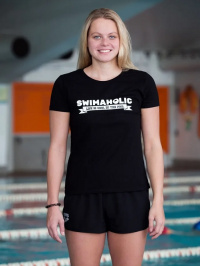Swimaholic Life Is Cool In The Pool T-Shirt Women Black