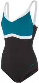 Speedo Aquajewel 1 Piece Black/Nordic Teal/White