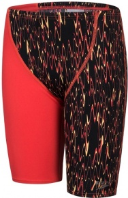 Speedo Fastskin Endurance+ High Waist Jammer Boy Black/Lava Red/Papaya Punch