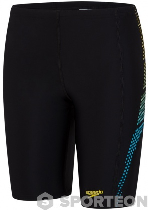 Speedo Plastisol Placement Jammer Boy Black/Turquoise/Empire Yellow