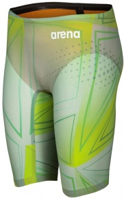 Arena Powerskin R-Evo One Jammer Junior Limited Edition Green Glass