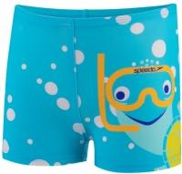 Speedo Tommy Turtle Placement Aquashort Infant Boy Turquoise/Bright Yellow/Marine Blue