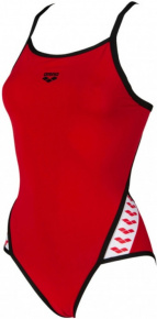 Arena Team Stripe Super Fly Back One Piece Red/Black