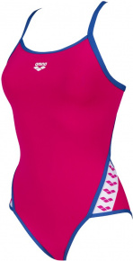 Arena Team Stripe Super Fly Back One Piece Freak Rose/Royal