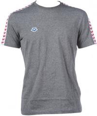 Arena M T-Shirt Team Dark Grey Melange/White/Red