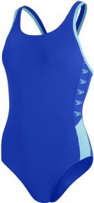 Speedo Boom Logo Splice Muscleback Blue Flame/Light Adriatic